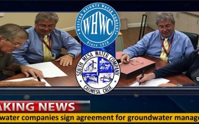South Mesa and Western Heights Water Companies Reach Groundwater Agreement
